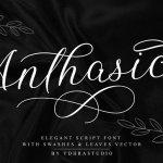 Anthasic Script Font