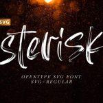 Asteriska SVG Font