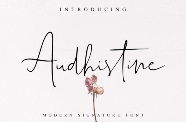 Audhistine Signature Font