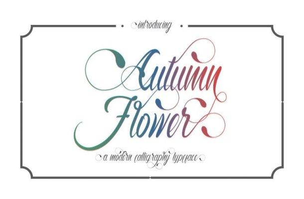 Autumn Flower Script Font