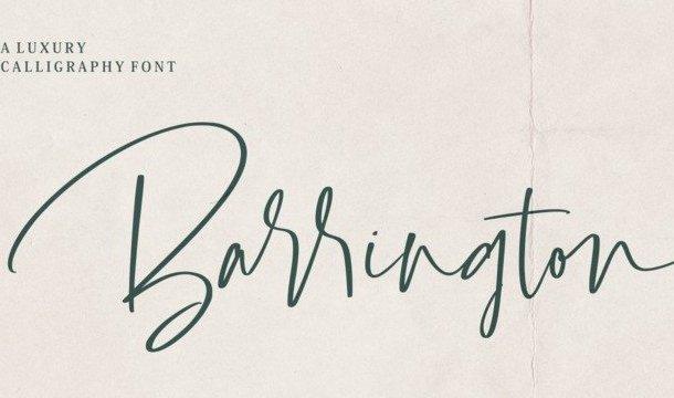 Barrington Calligraphy Font