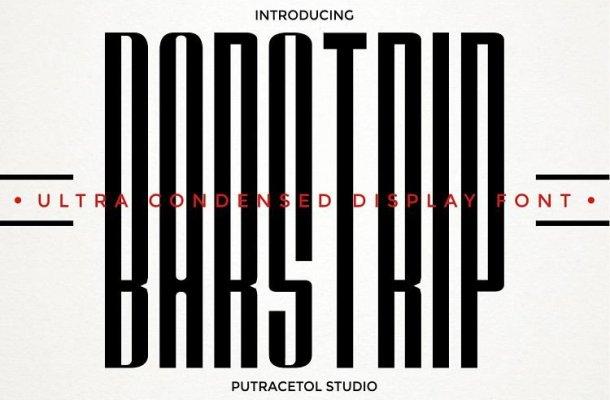 BARSTRIP Ultra Condensed Font