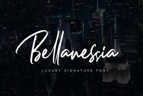 Bellanessia Signature Font