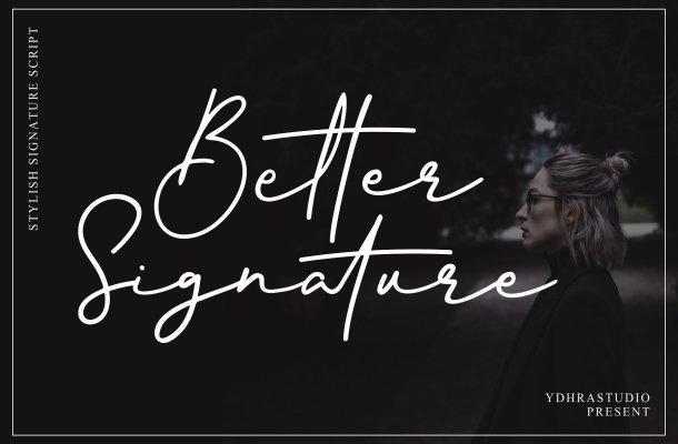 Better Signature Font