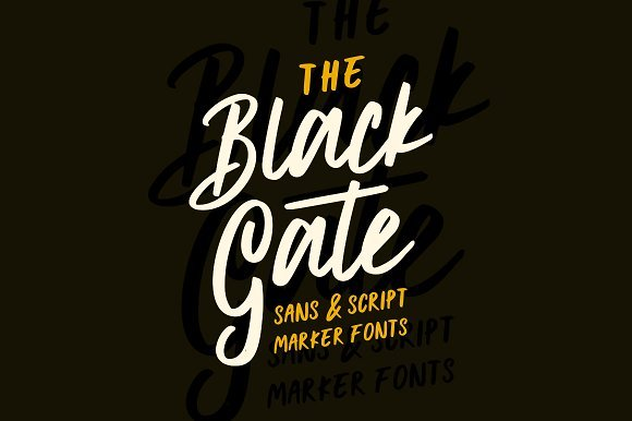 Black Gate Typeface