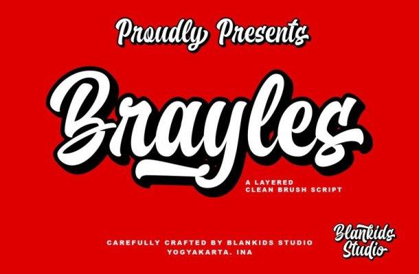 Brayles Bold Script Font