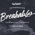 Breakable Brush Font