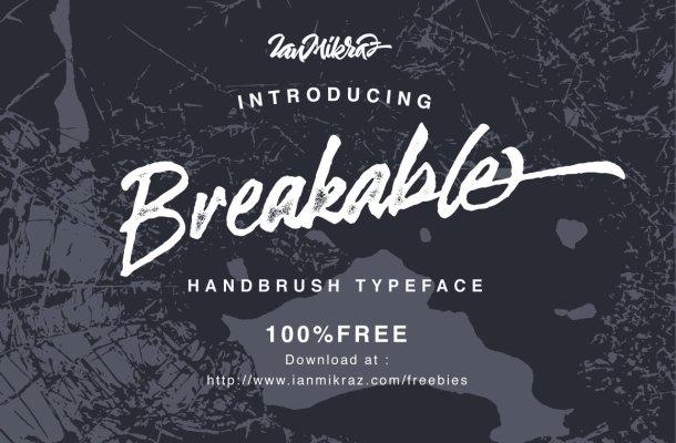 Breakable Brush Font