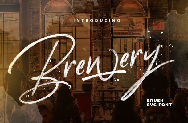 Brewery Brush Font