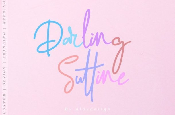 Darling Suttine Signature Font