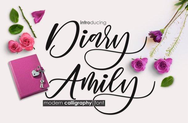 Diary Amily Script Font