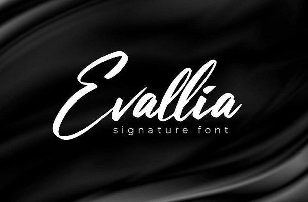 Evallia Signature Font