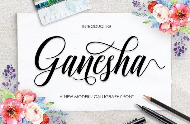 Ganesha Script Font