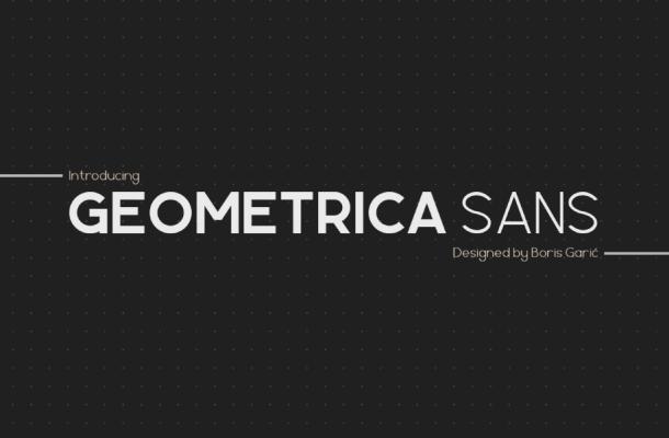 Geometrica Sans Font Family
