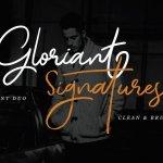Gloriant Signature Font