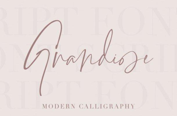 Grandiose Signature Font