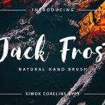 Jack Frost Brush Font