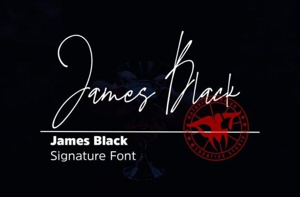 James Black Signature Font