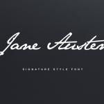 Jane Austen Signature Font