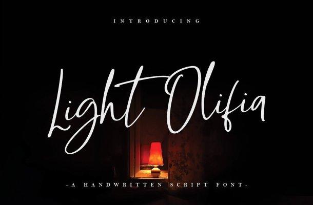 Light Olifia Script Font