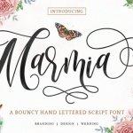 Marmia Calligraphy Font
