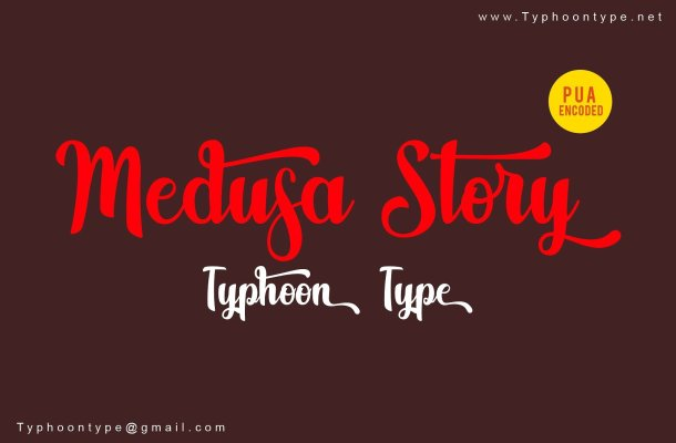 Medusa Story Script Font
