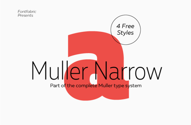 Muller Narrow Font Family