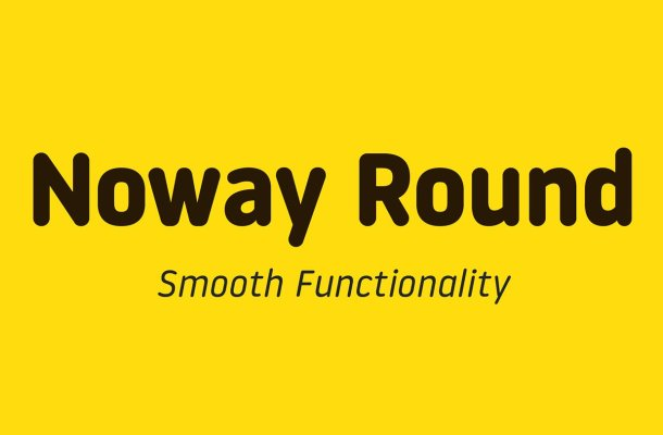 Noway Round Font Family