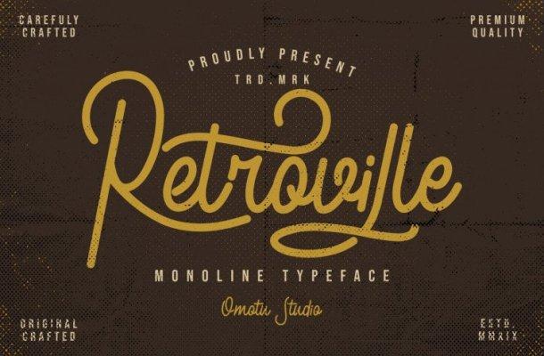 Retroville Script Font