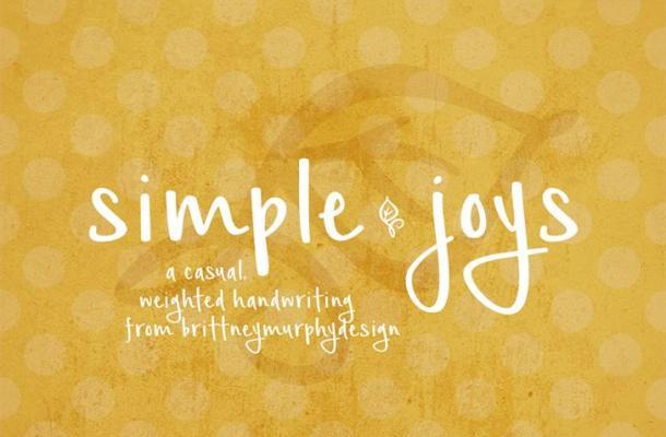Simple Joys Font