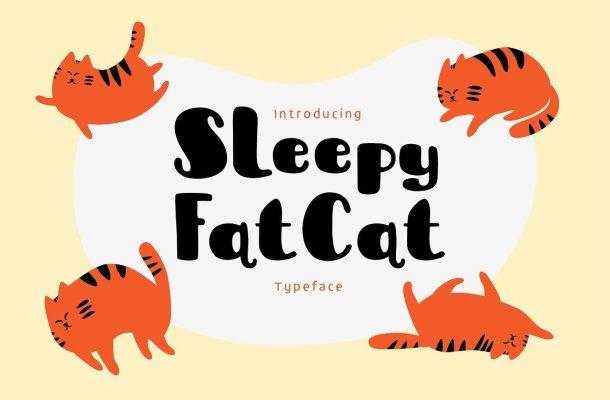 Sleepy Fat Cat Typeface