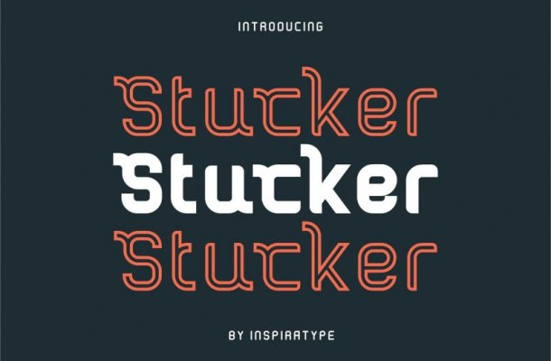 Stucker Display Font