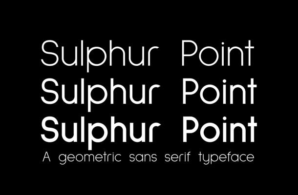 Sulphur Point Font Family