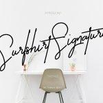 Surfshirt Signature Font