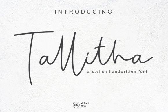 Tallitha Handwritten Font