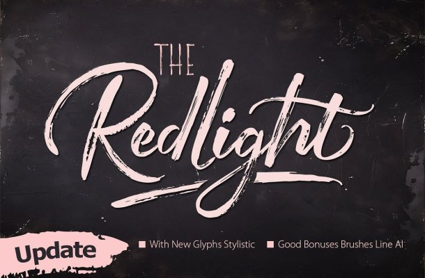 The Redlight Font Duo