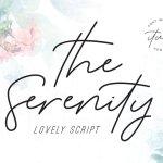 The Serenity Script Font