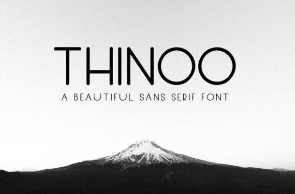 Thinoo Sans Serif Font