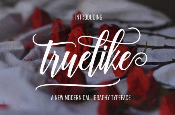 Truelike Script Font