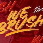 Webrush Brush Font