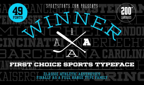 Winner Cond Regular Font