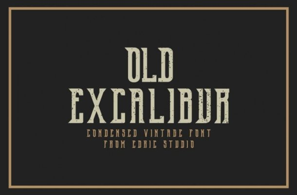 Old Excalibur Typeface