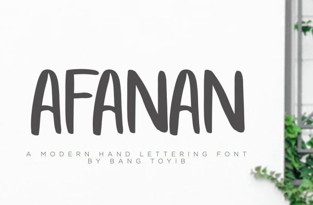 AFANAN Brush Font