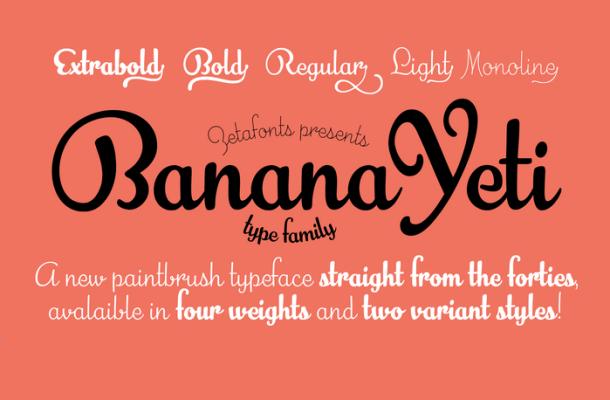 Banana Yeti Script Font