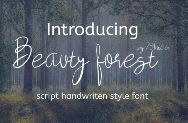 Beauty Forest Script Font