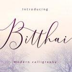 Bitthai Script Font