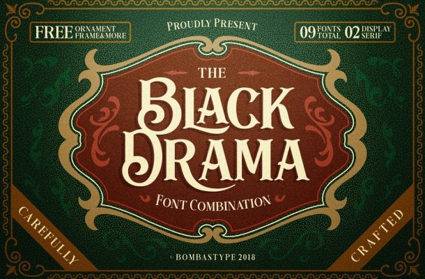 Black Drama Typeface