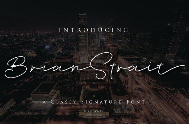 Brian Strait Signature Font