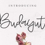 Budayut Signature Font