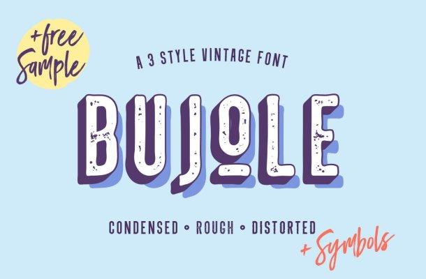 Bujole – A 3 Style Vintage Font